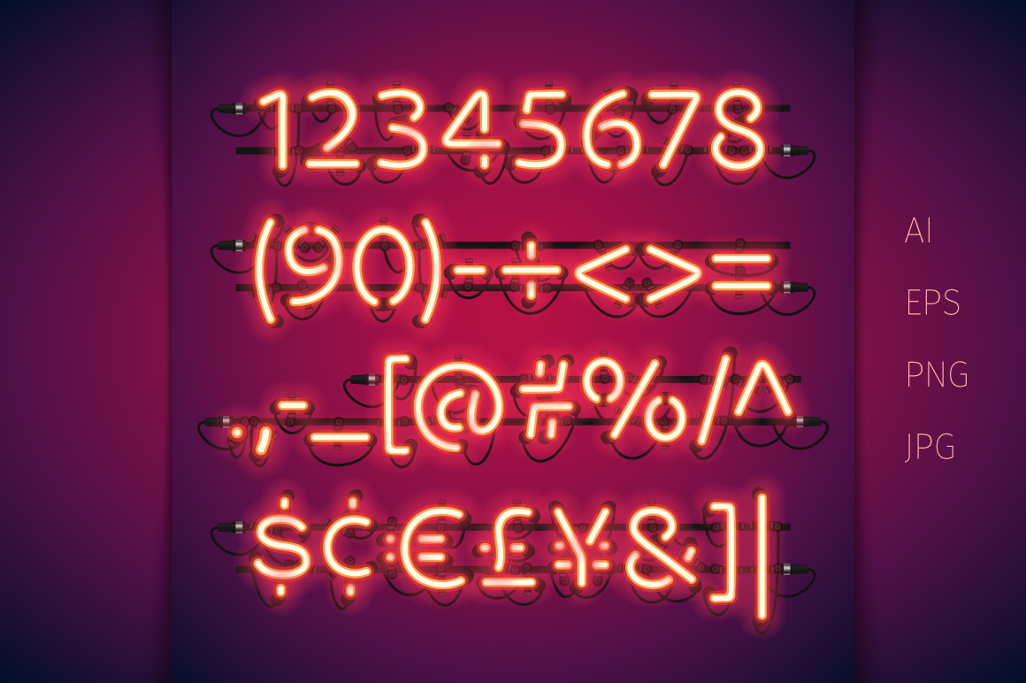 Red Glowing Neon Type example image 3