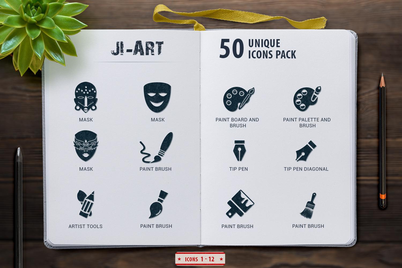 Glyph Art Icons Set example image 4