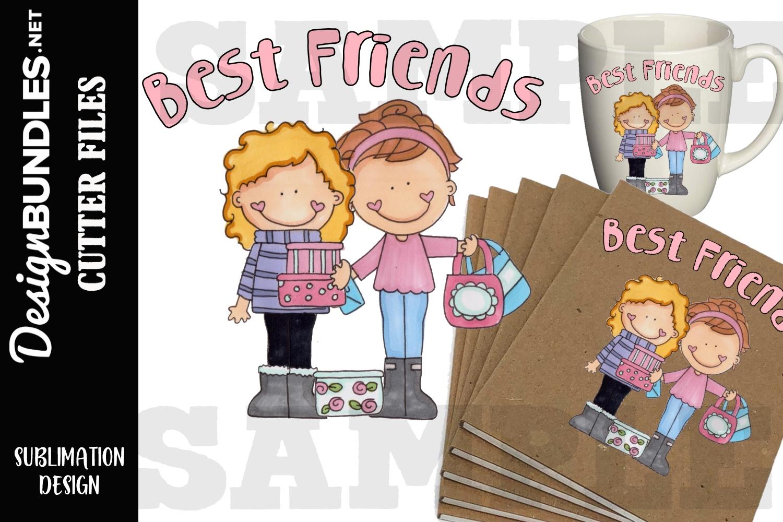 Best Friends Sublimation Design example image 1
