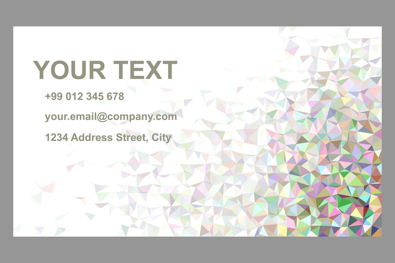 50x2 mosaic design business card templates (EPS, AI, JPG 5000x5000) example image 2