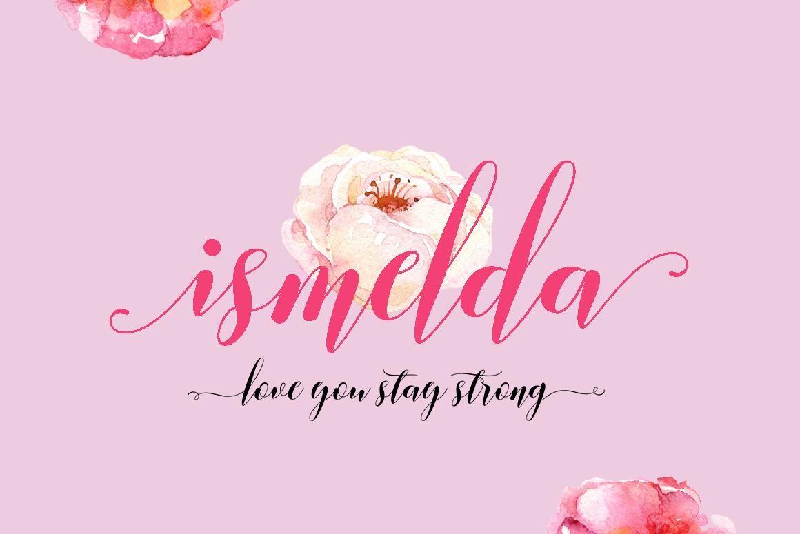Ismelda Script example image 6