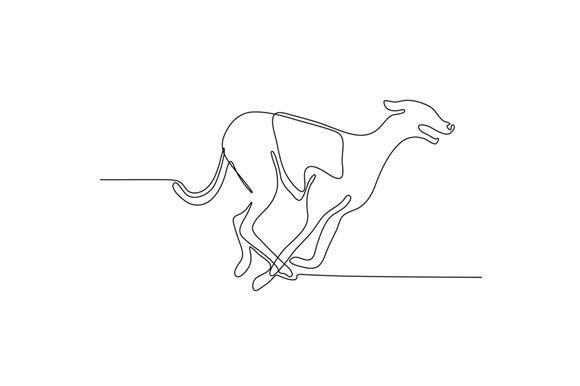 Greyhound Racing Continuous Line example image 1