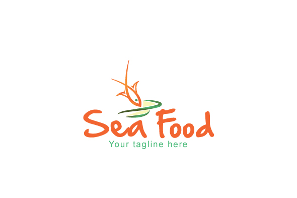 Sea Food - Simple Illustrative Stock Logo example image 1