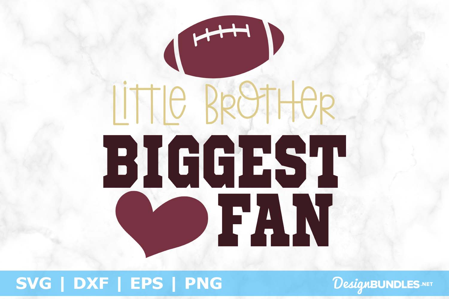 Little Brother Biggest Fan SVG File example image 1