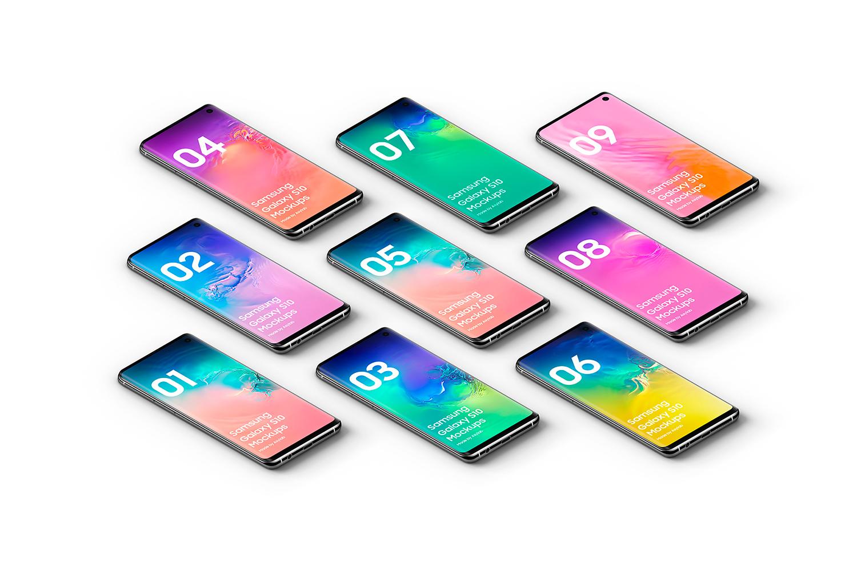 Samsung Galaxy S10 - 21 Mockups - 5K - PSD example image 27