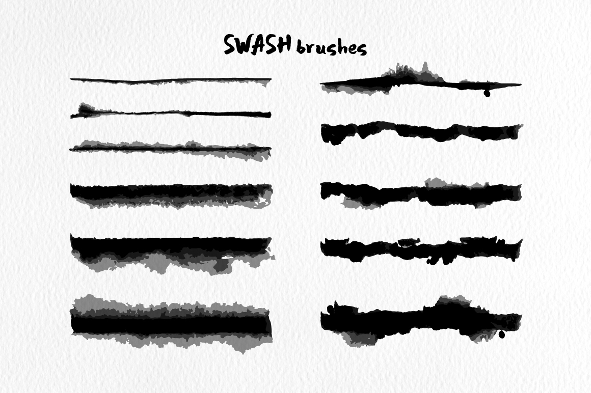 Swash Brushes for Illustrator example image 5