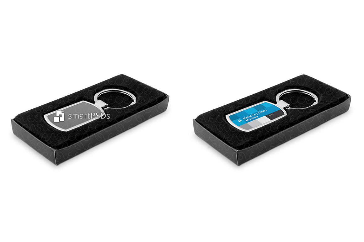 Metal Key Chain Mockup for Sublimation Design Preview example image 2
