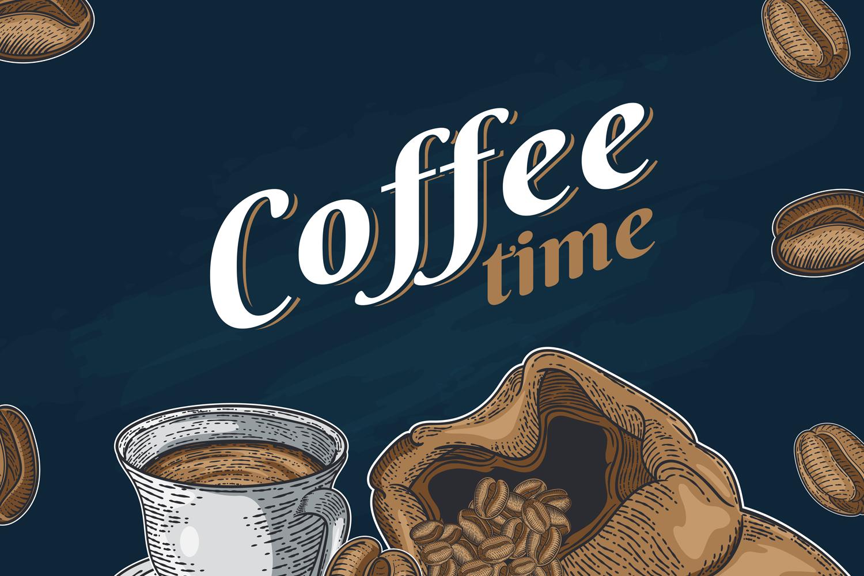 15 designs - Coffee restaurant brochure vector, coffee shop example image 10