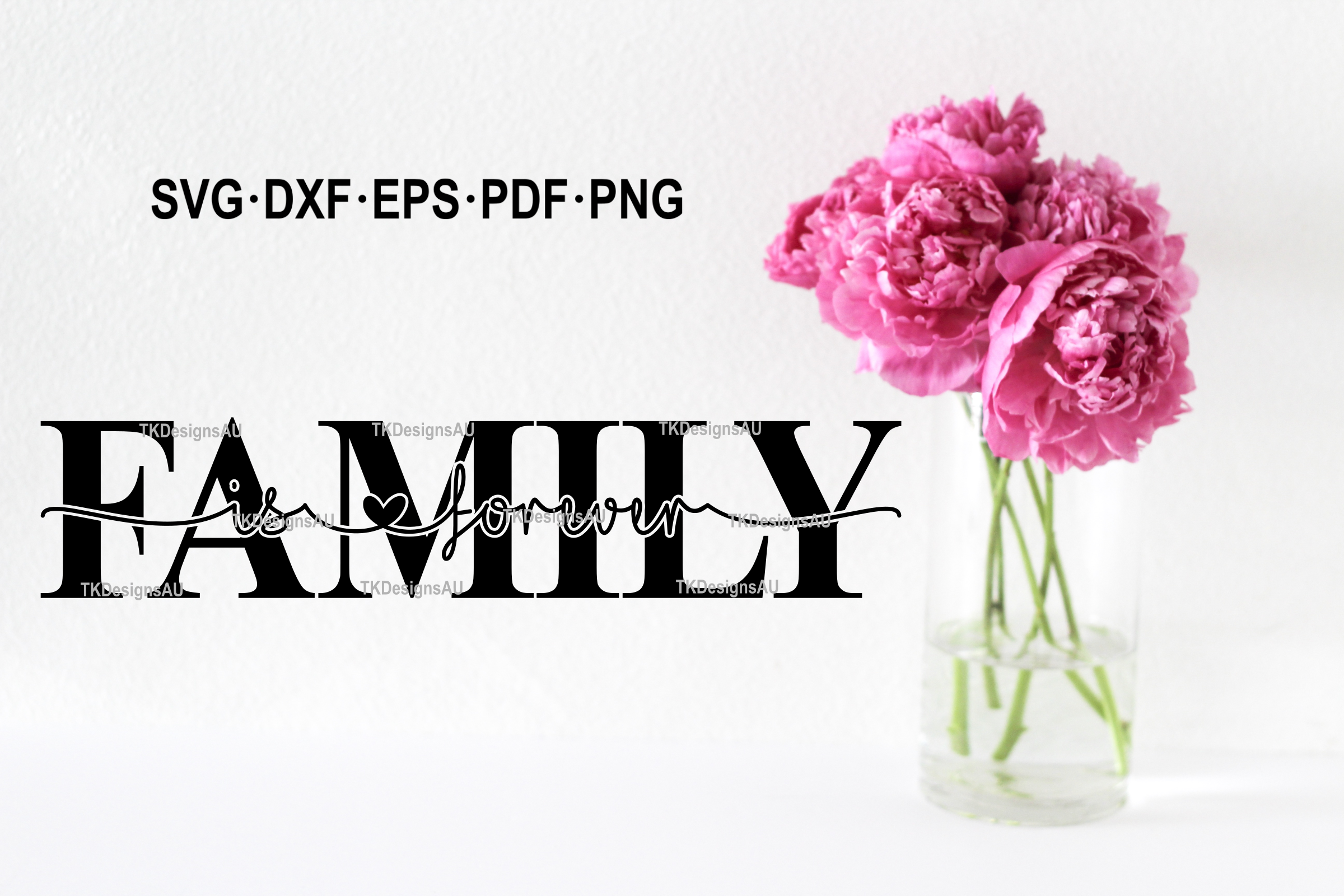 Family Is Forever Knockout SVG example image 3