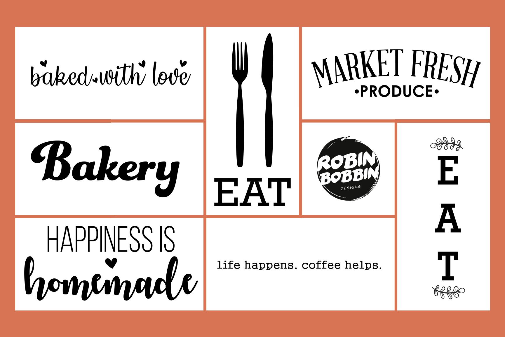 Kitchen Quotes SVG Bundle 48 Designs, Kitchen Sign SVG Files example image 4