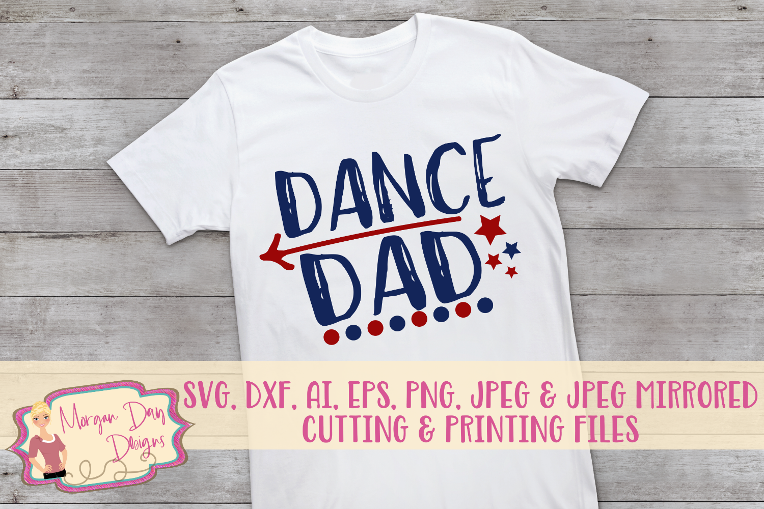 Dance Dad SVG, DXF, AI, EPS, PNG, JPEG example image 1