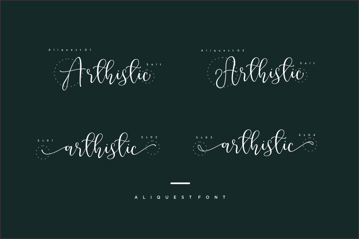 Aliquest Script Font example image 4