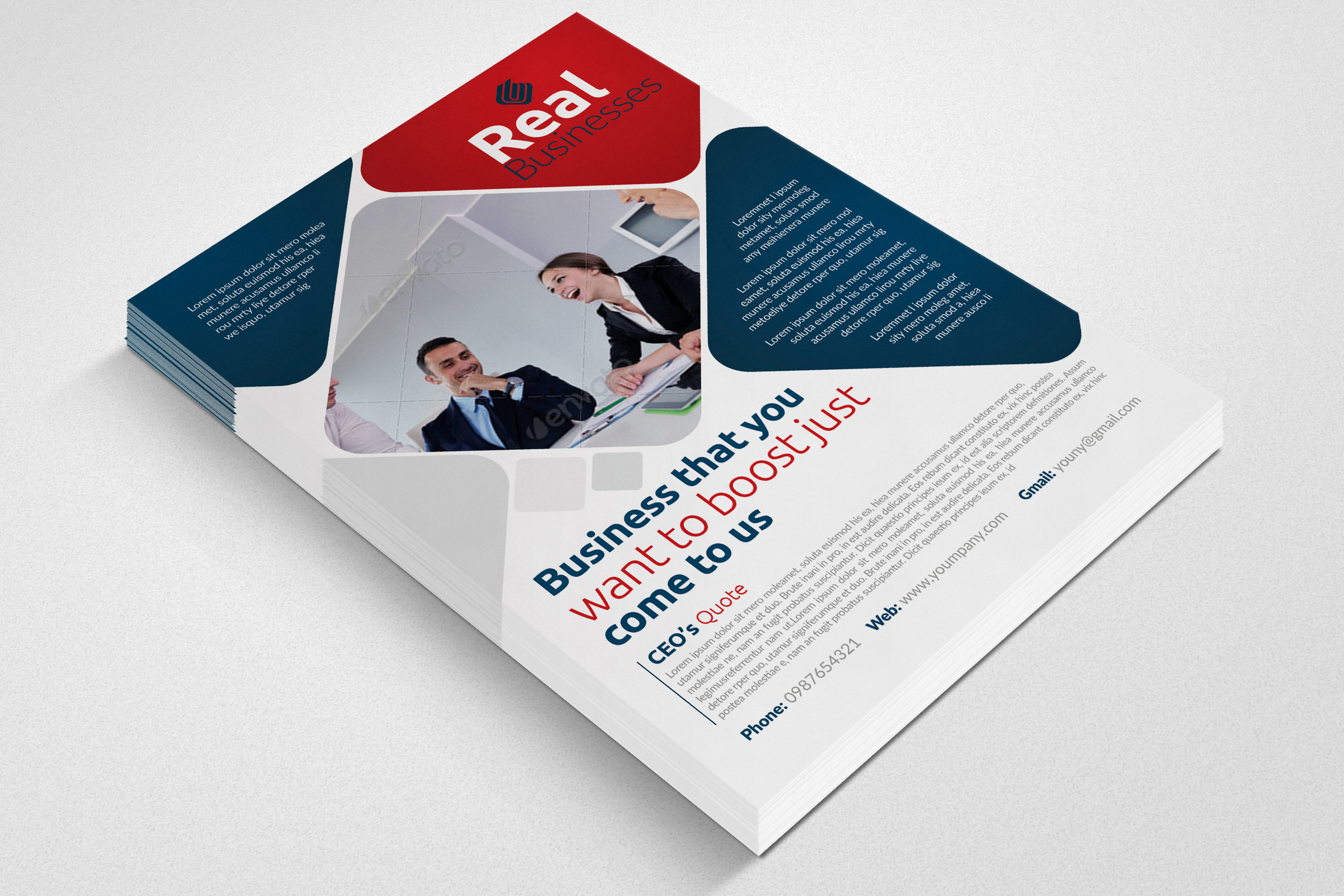 Business Solutions Consultant Flyer example image 2