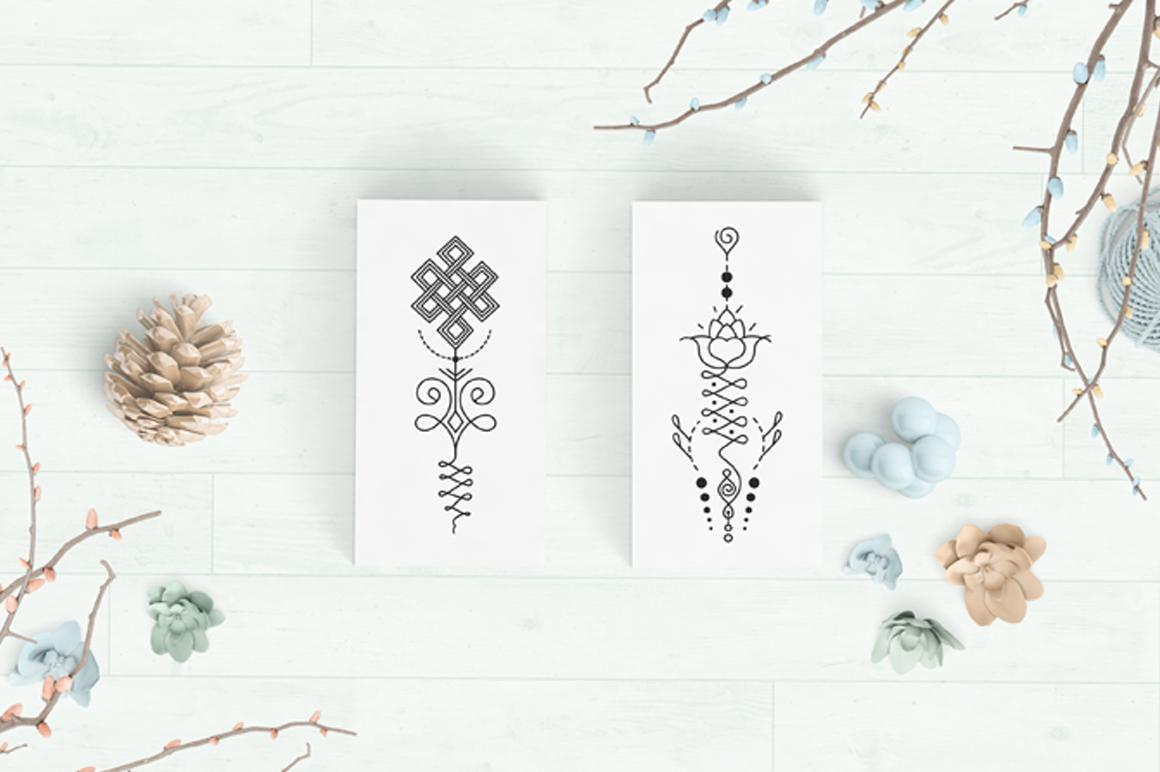 11 Unalome & lotus Sacred symbols example image 7