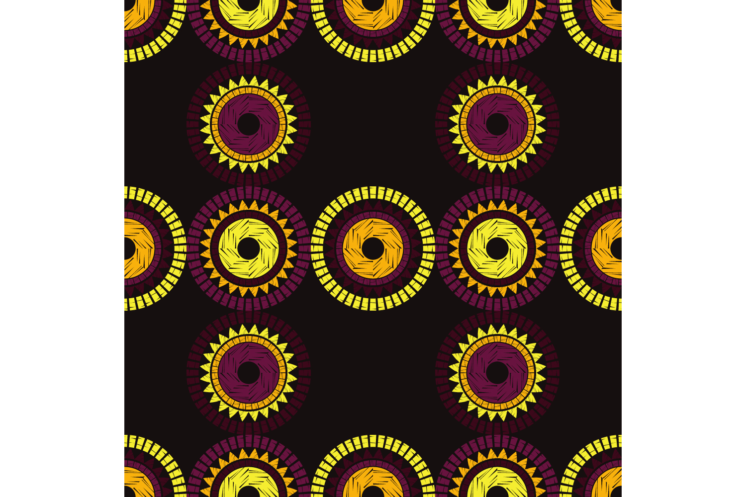 Polka dot ethnic ornament. Set of 10 seamless patterns. example image 3