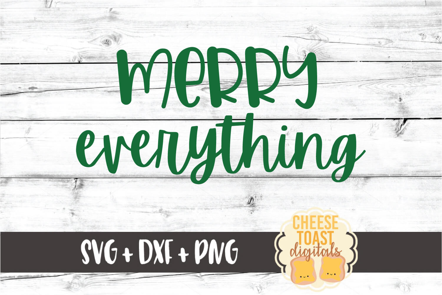 Merry Everything - Christmas SVG PNG DXF Cut Files example image 2