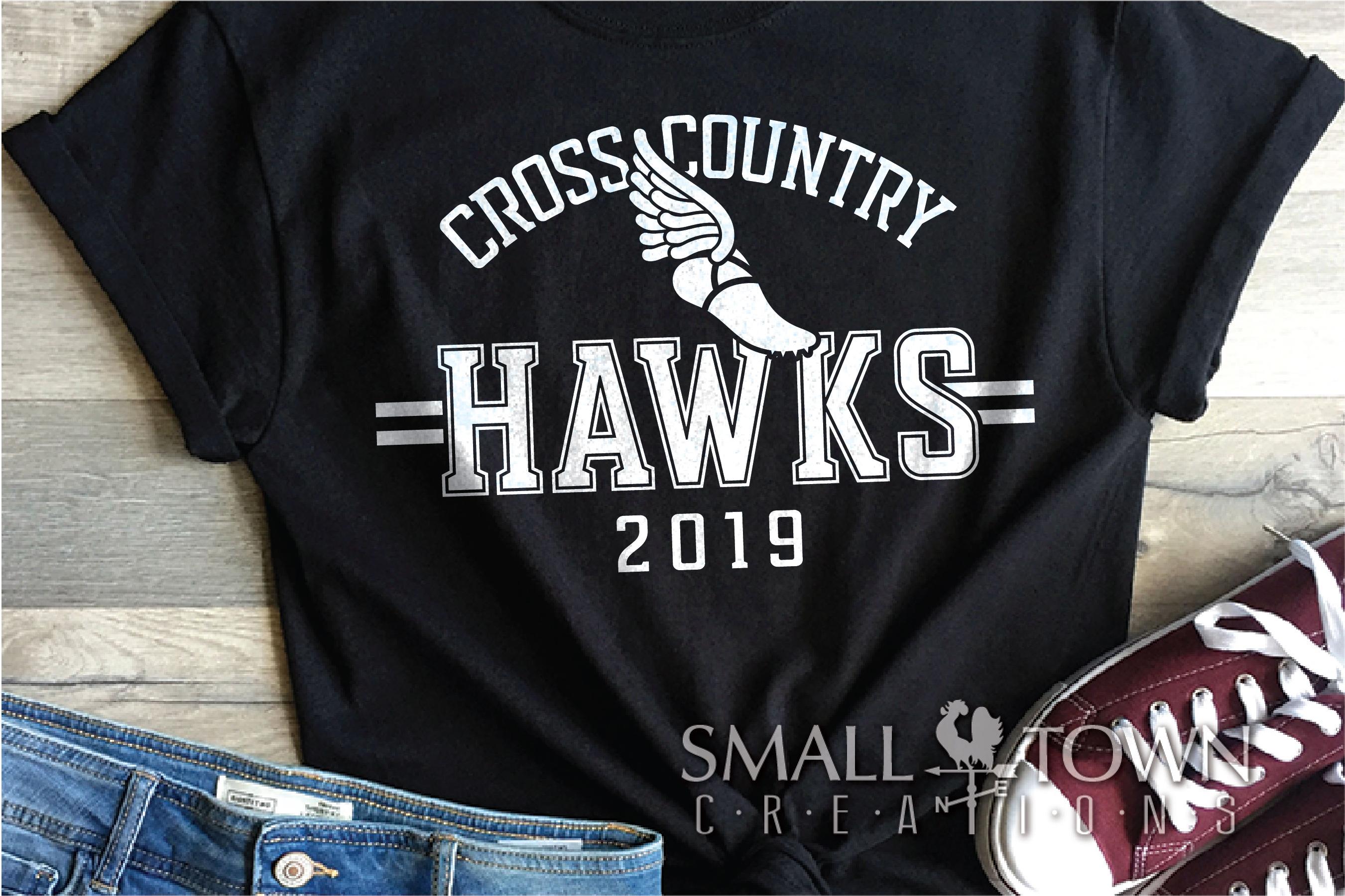 Hawks Cross Country Team, Hawk Mascot, PRINT, CUT & DESIGN example image 1