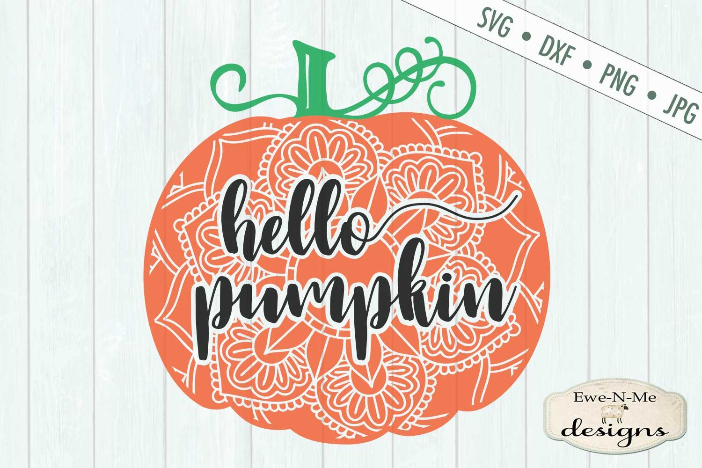 Hello Pumpkin - Mandala - Autumn Fall - SVG DXF Files example image 2