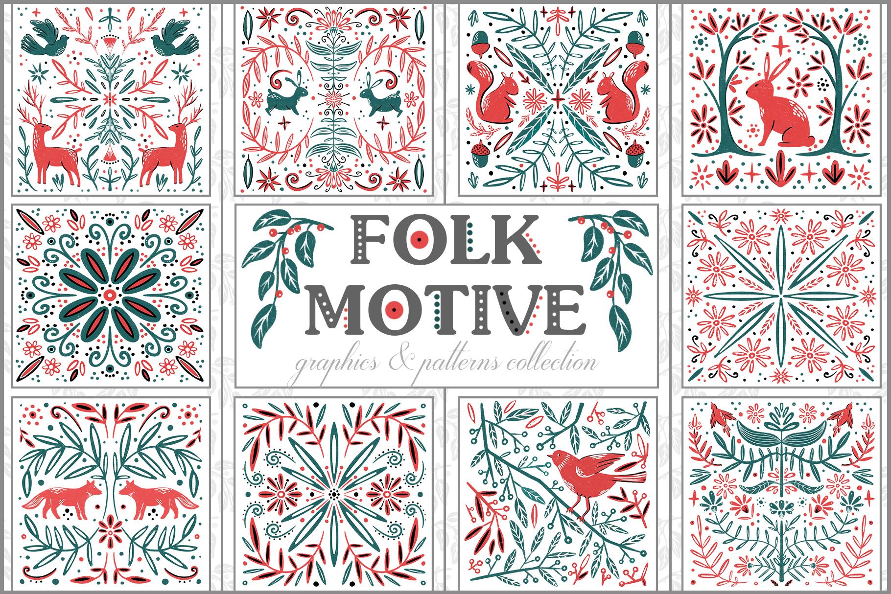 Folk Motive example image 1