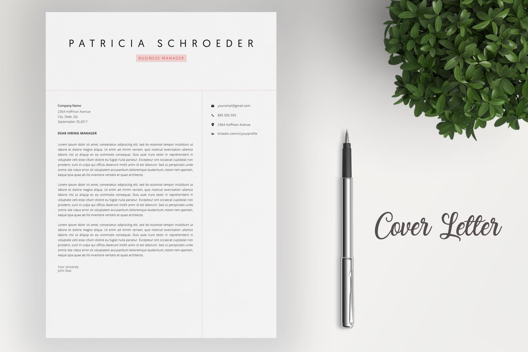 Elegant Resume | Word Resume | Cover Letter example image 4