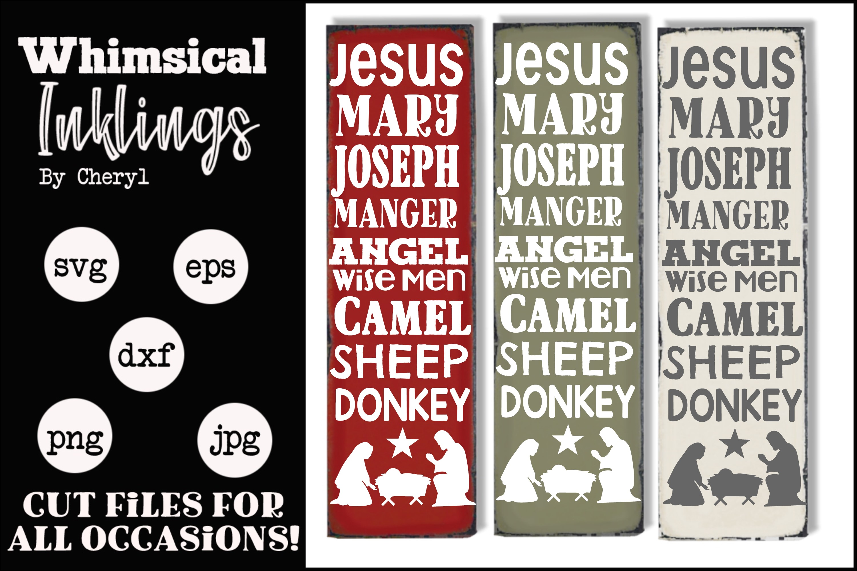 Vertical Nativity SVG example image 1