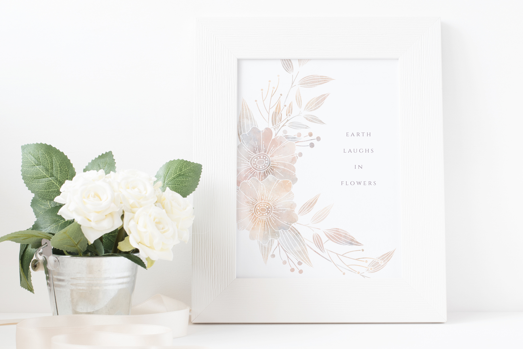 MISTY Dusty Floral Graphics and Monograms example image 12