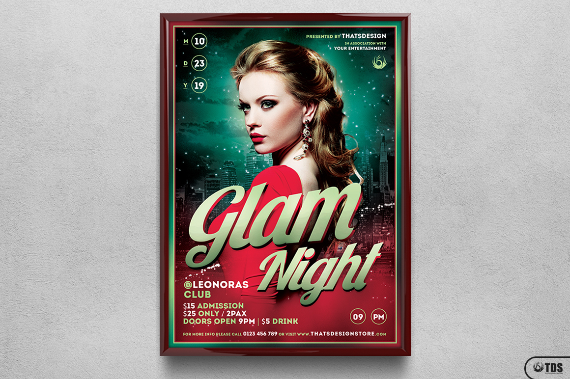 Glam Night Flyer Template example image 6
