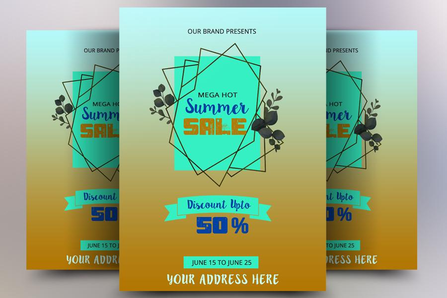 Mega Summer Sale Flyer example image 1