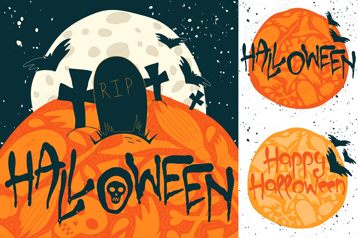 9 Halloween Greeting Cards example image 2