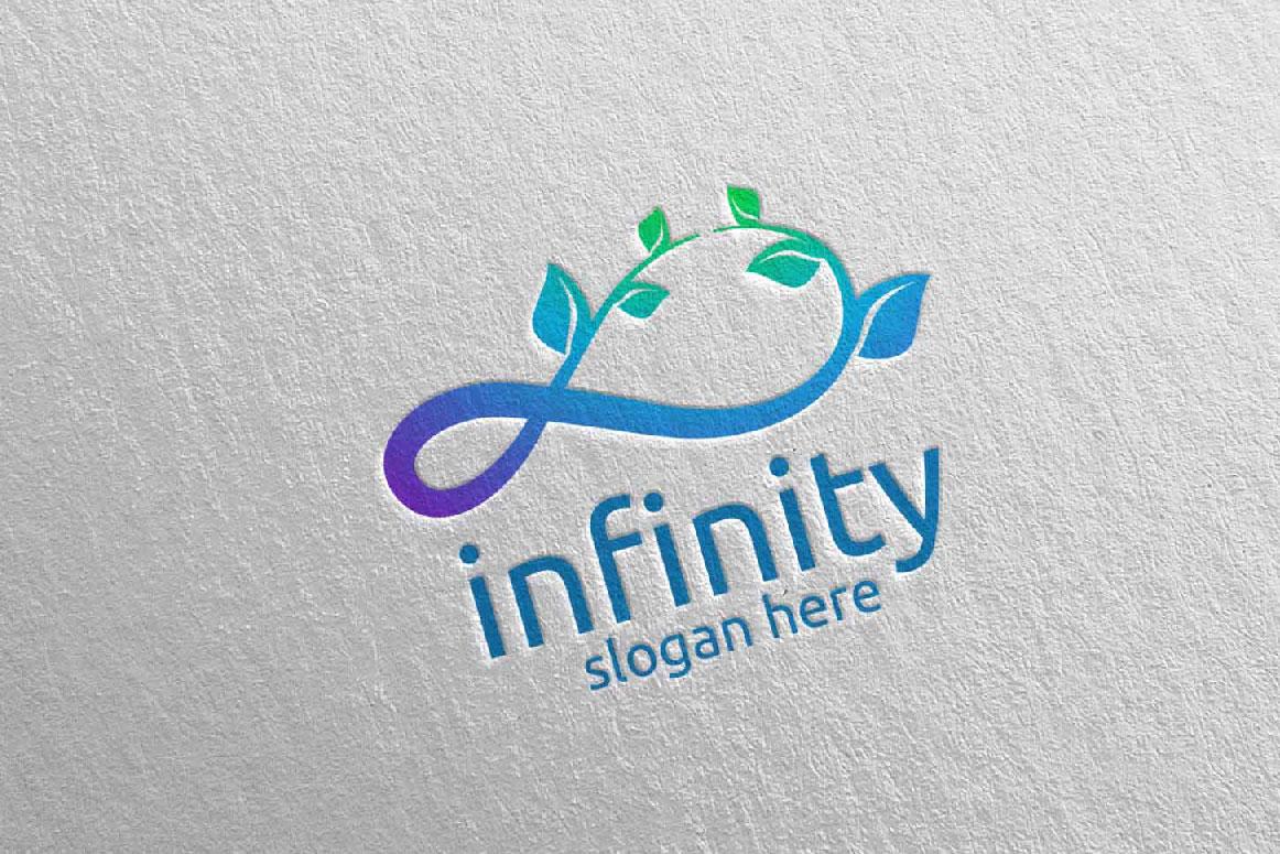 Green Infinity loop logo Design 33 example image 2