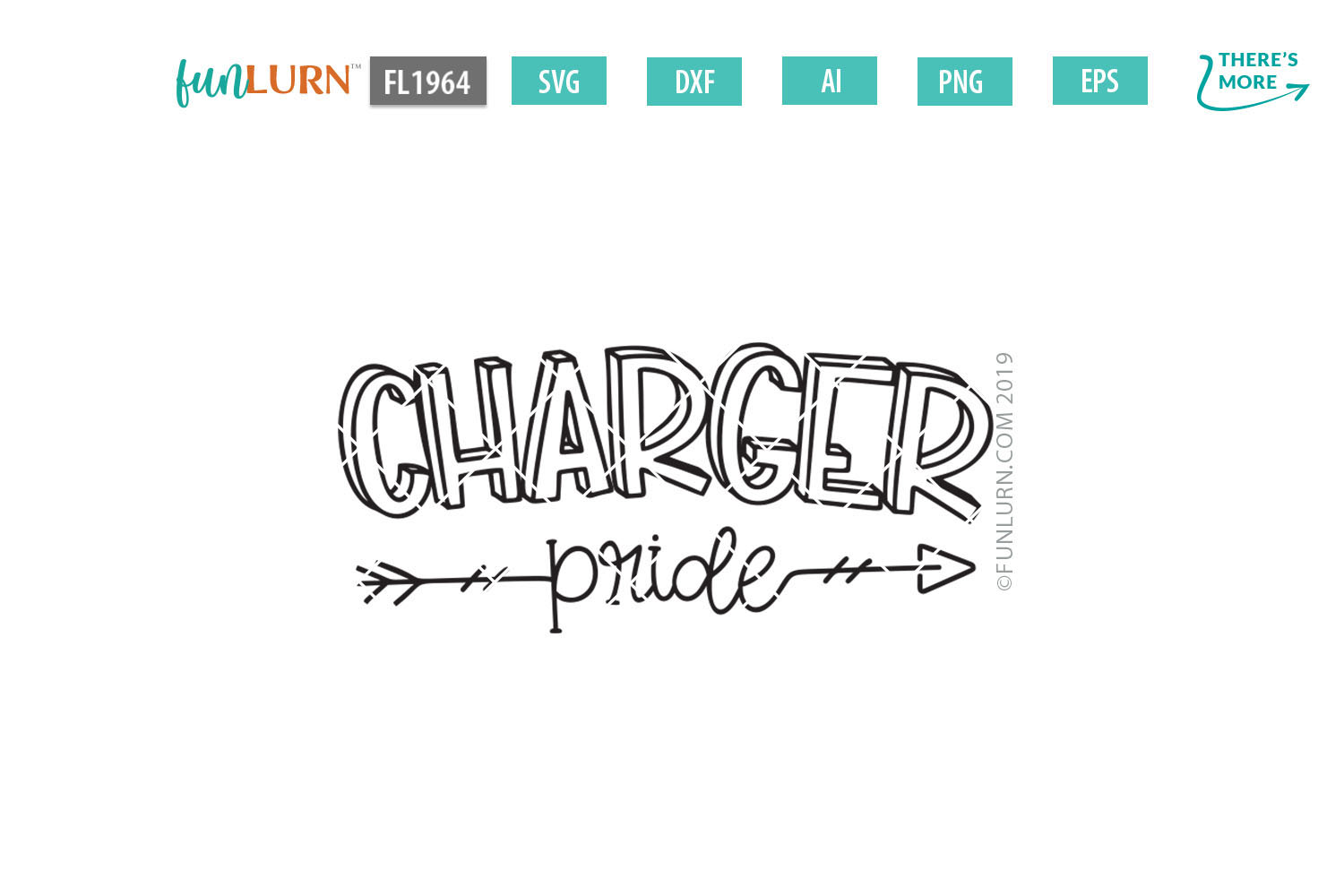 Charger Pride Team SVG Cut File example image 2
