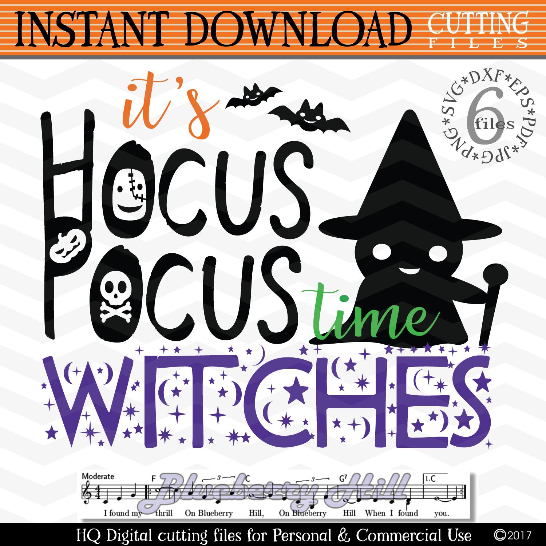 It's Hocus Pocus time Witches - Hocus Pocus Witches svg example image 1