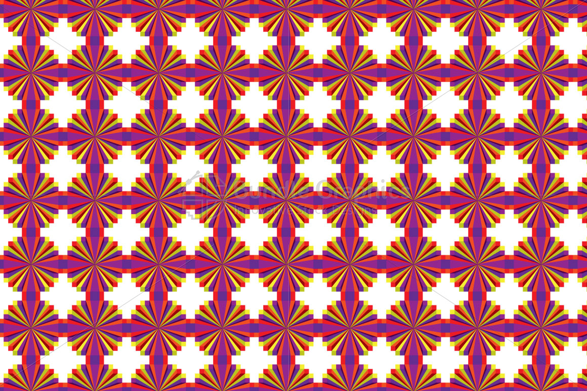 Colorful Geometrical Illusion Pattern example image 2