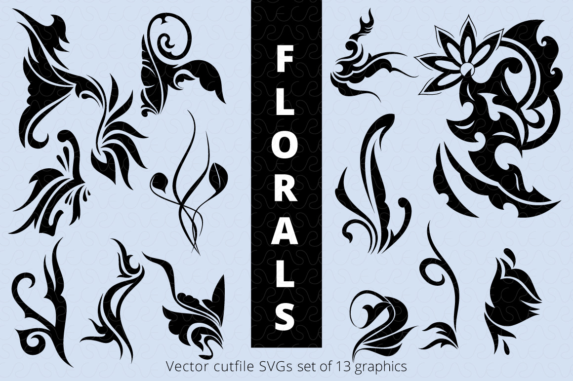 SVG Florals Cutfiles Bundle Pack of 270 vector graphic shape example image 22
