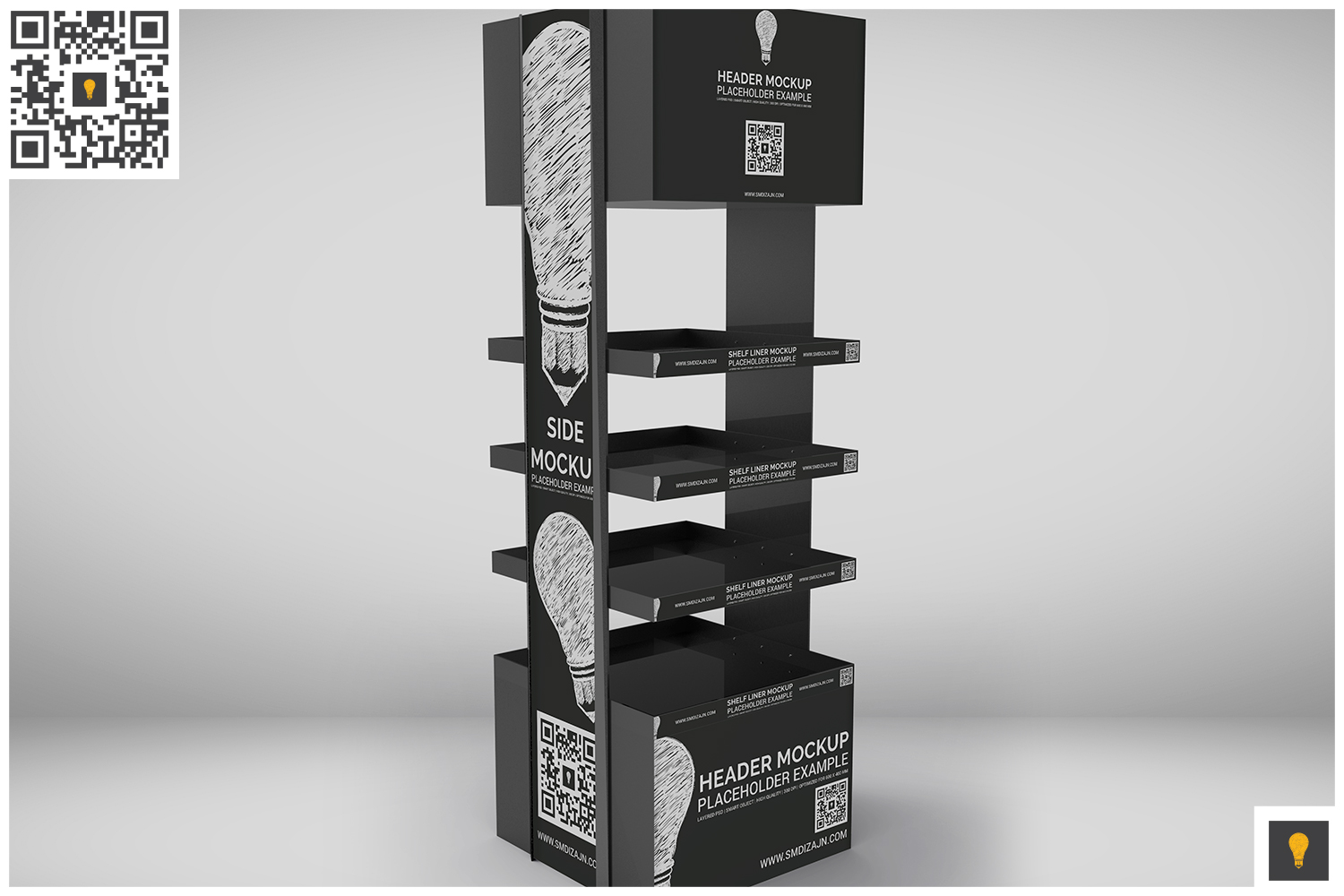 Promotional Store Shelf Stand Mockup example image 6