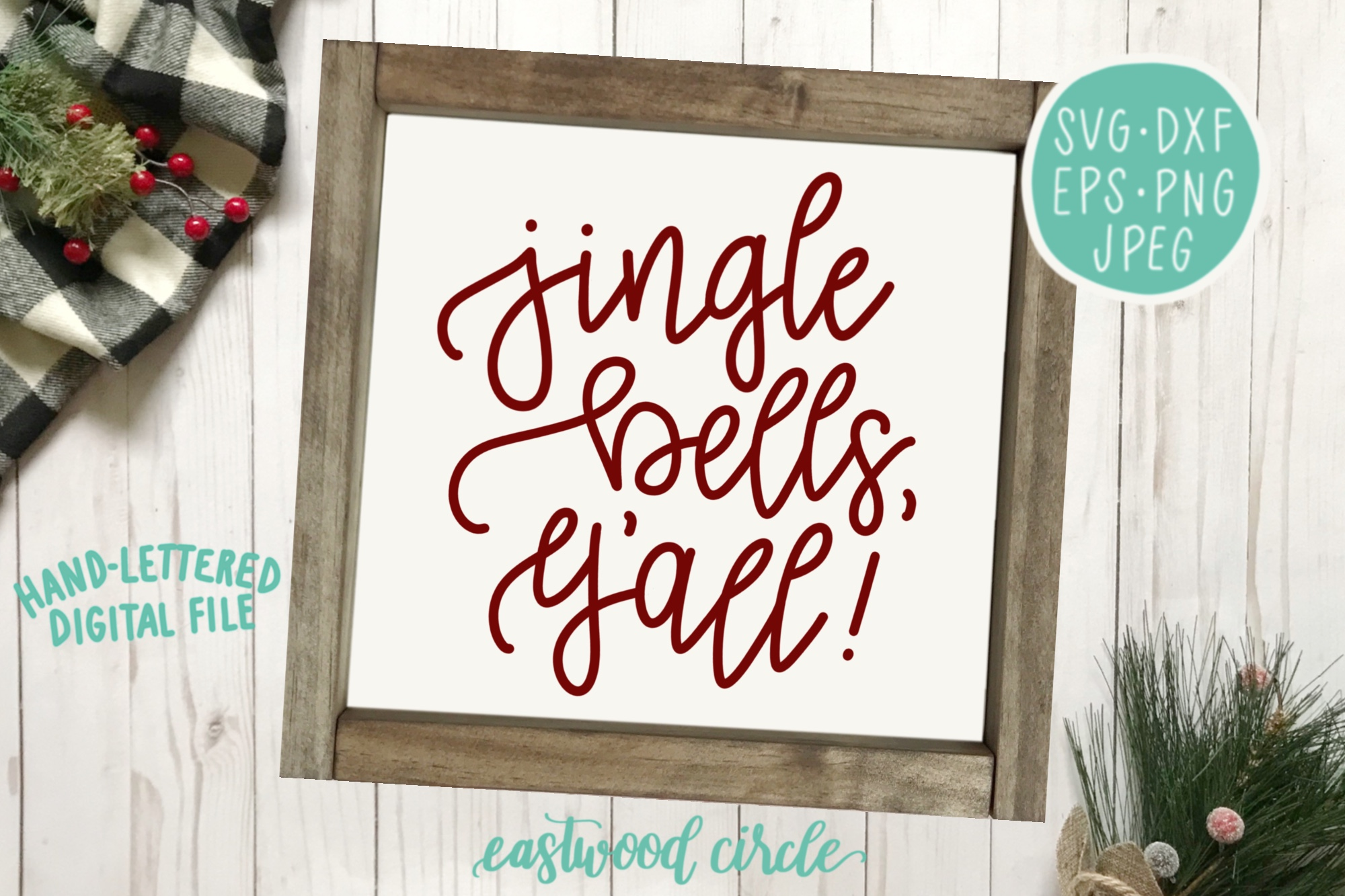 Christmas SVG Bundle - Hand Lettered SVG Files for Signs example image 2