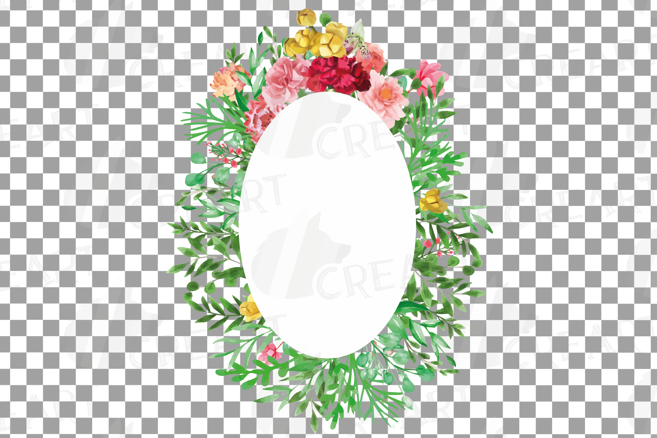 Watercolor floral floral frames and borders clip art pack example image 17