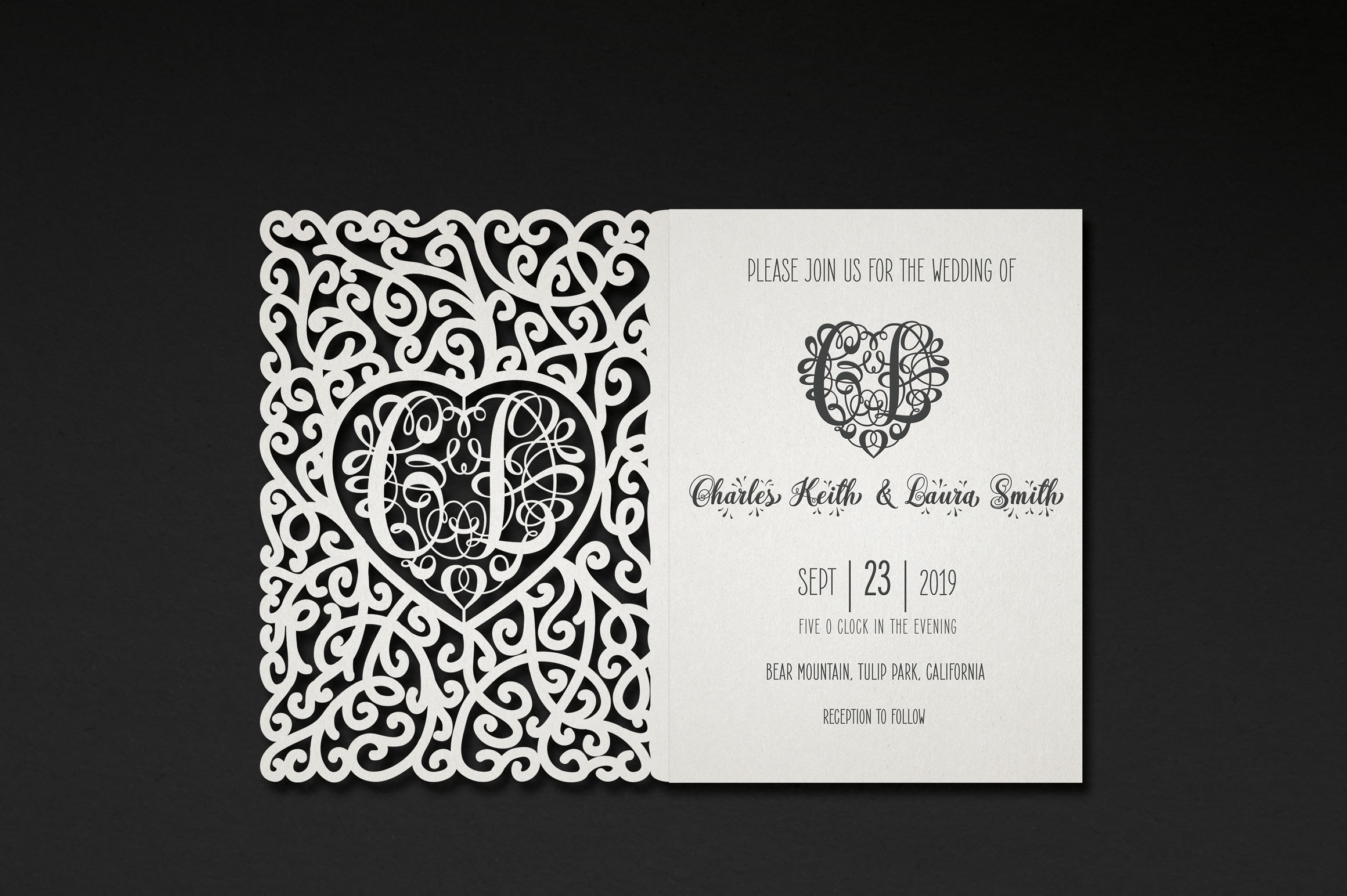 676 Heart Monograms | Ready for Papercut example image 2