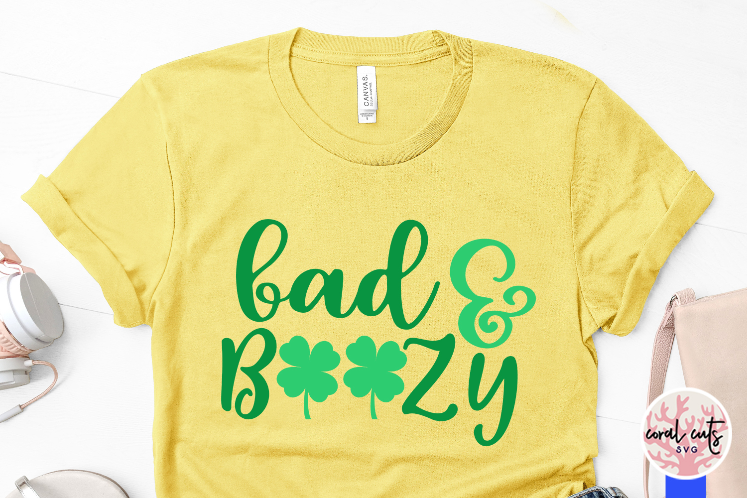 Bad & boozy - St. Patrick's Day SVG EPS DXF PNG example image 3