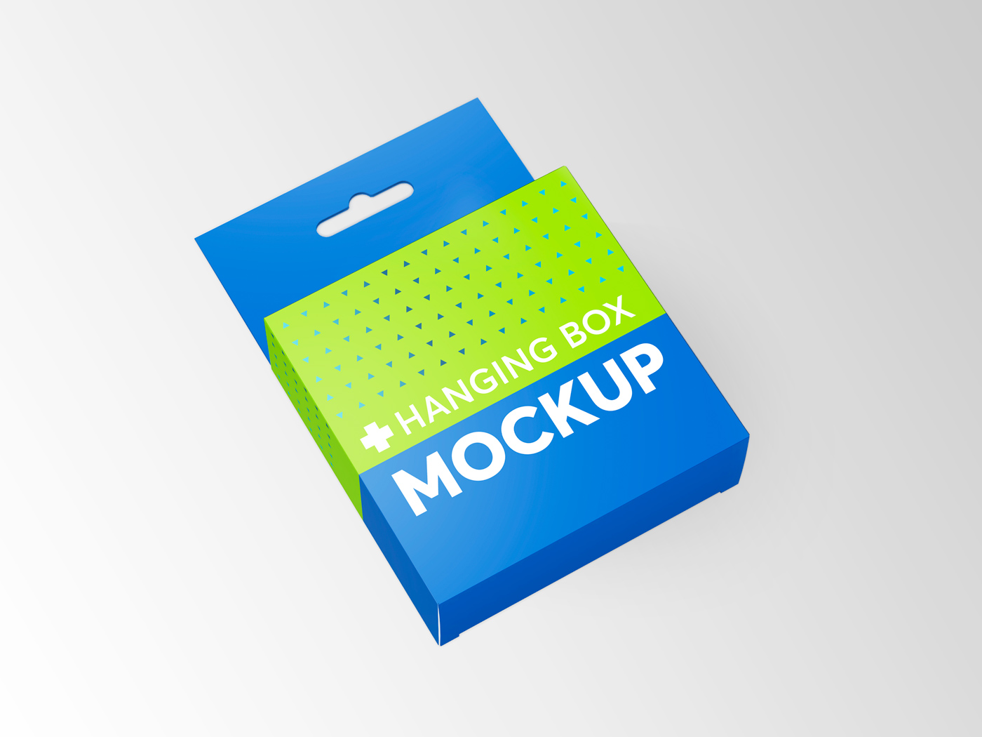 Flat Square Box with Hanger Mockup example image 8