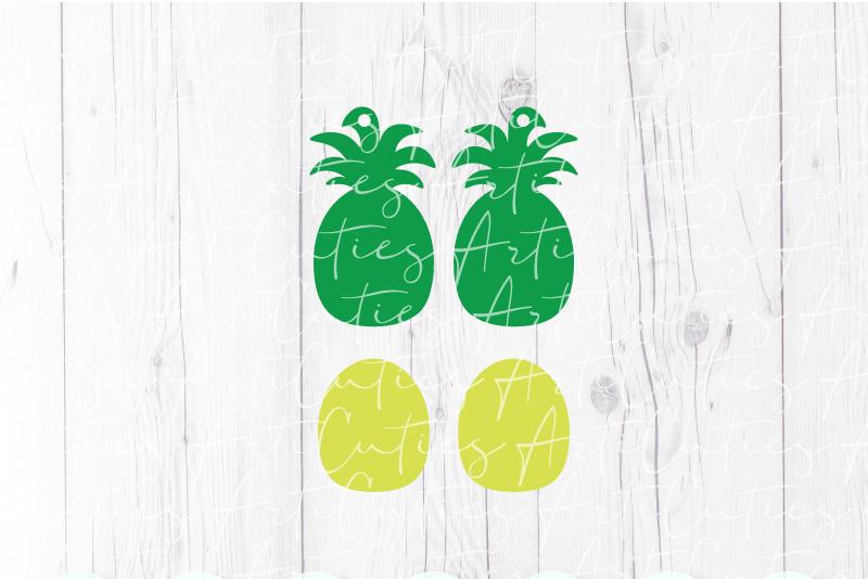 Pineapple earrings template SVG, DIY earrings template example image 3