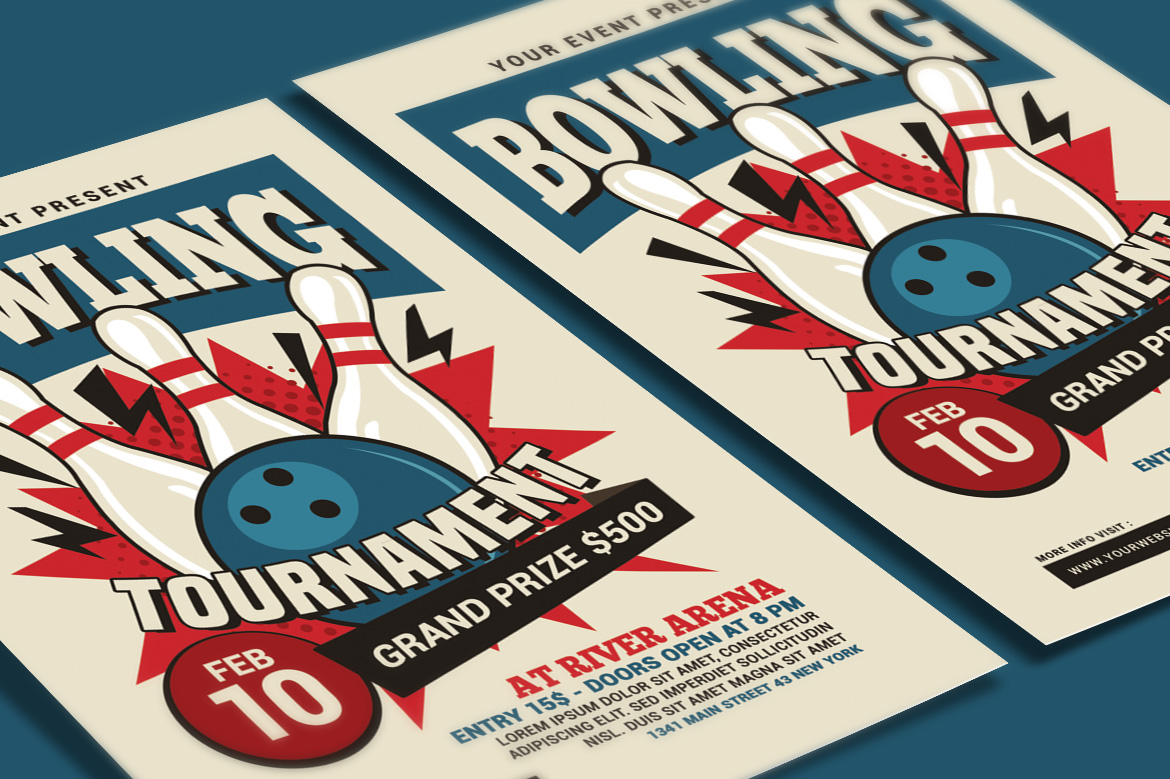 Bowling Tournament Flyer example image 3