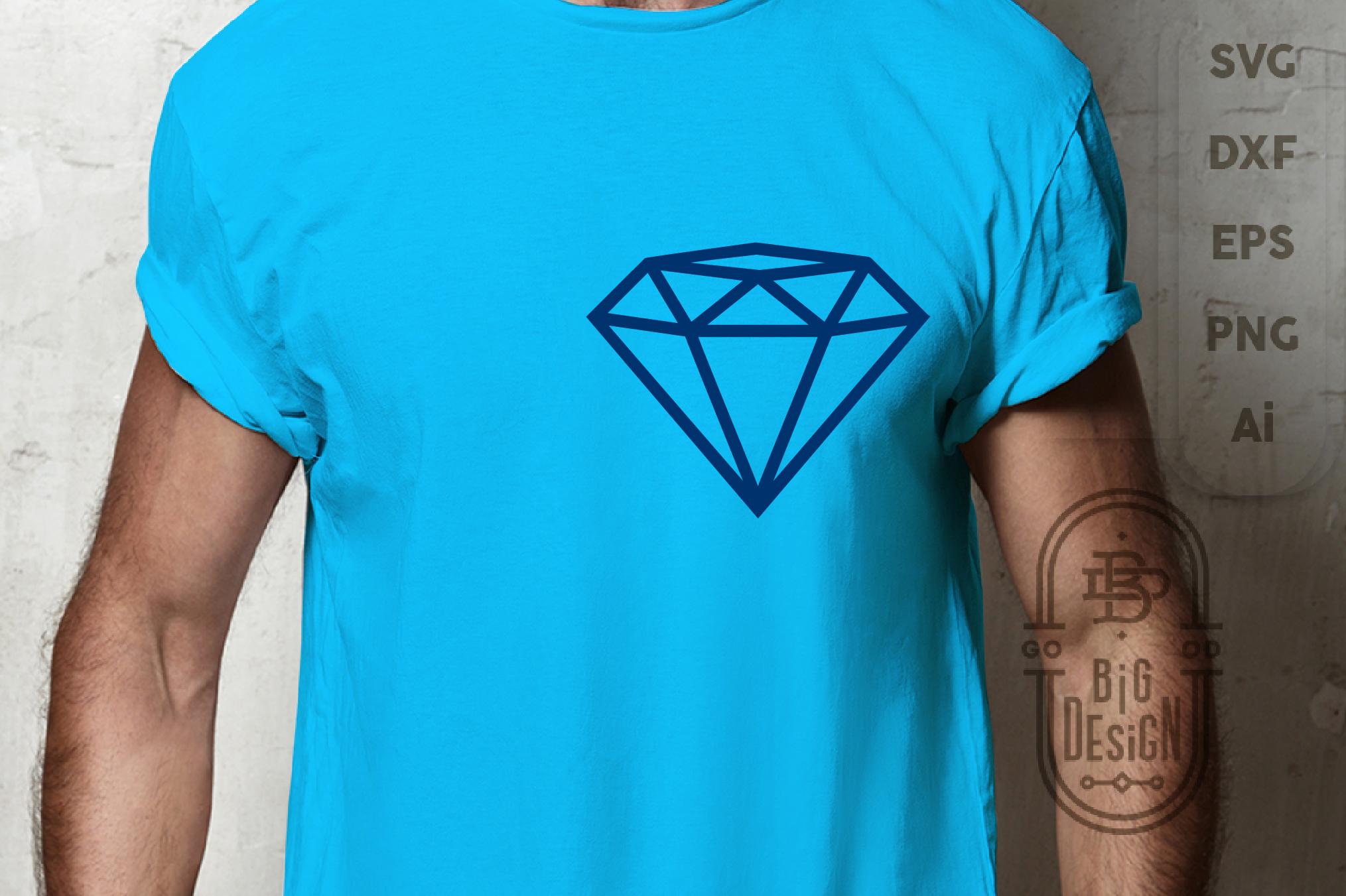 Diamond SVG Cut File , Diamond outline , Engagement Party example image 5