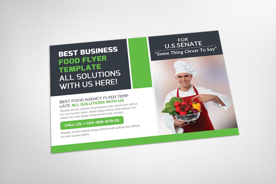 Restaurant Food Postcard Template example image 3
