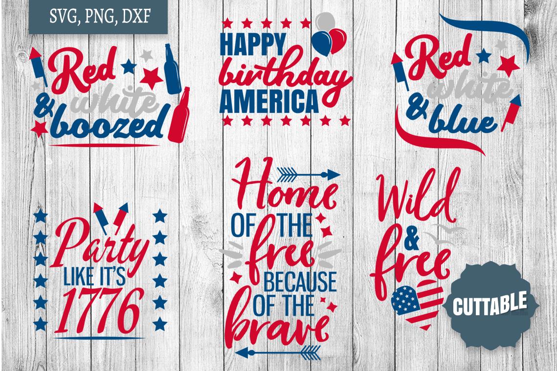 Fourth of July SVG Bundle, Independence day cut file bundle example image 3