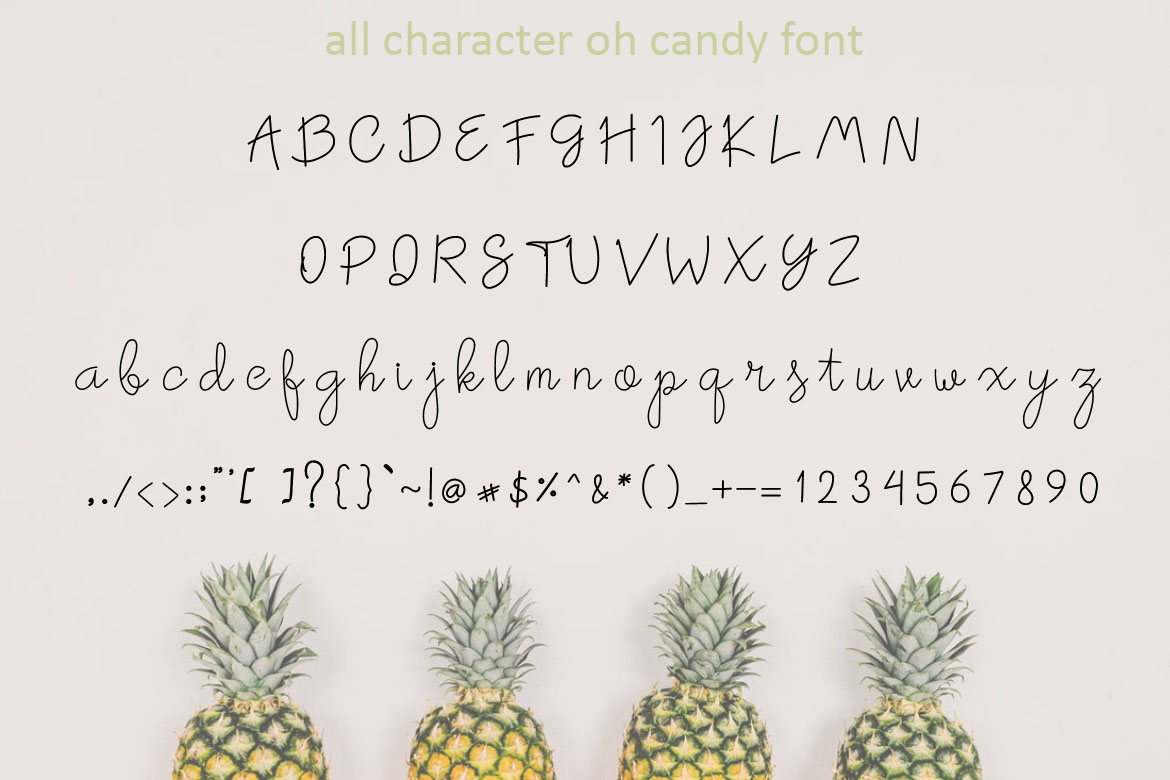 Oh Candy | Cute Handwaritten example image 6
