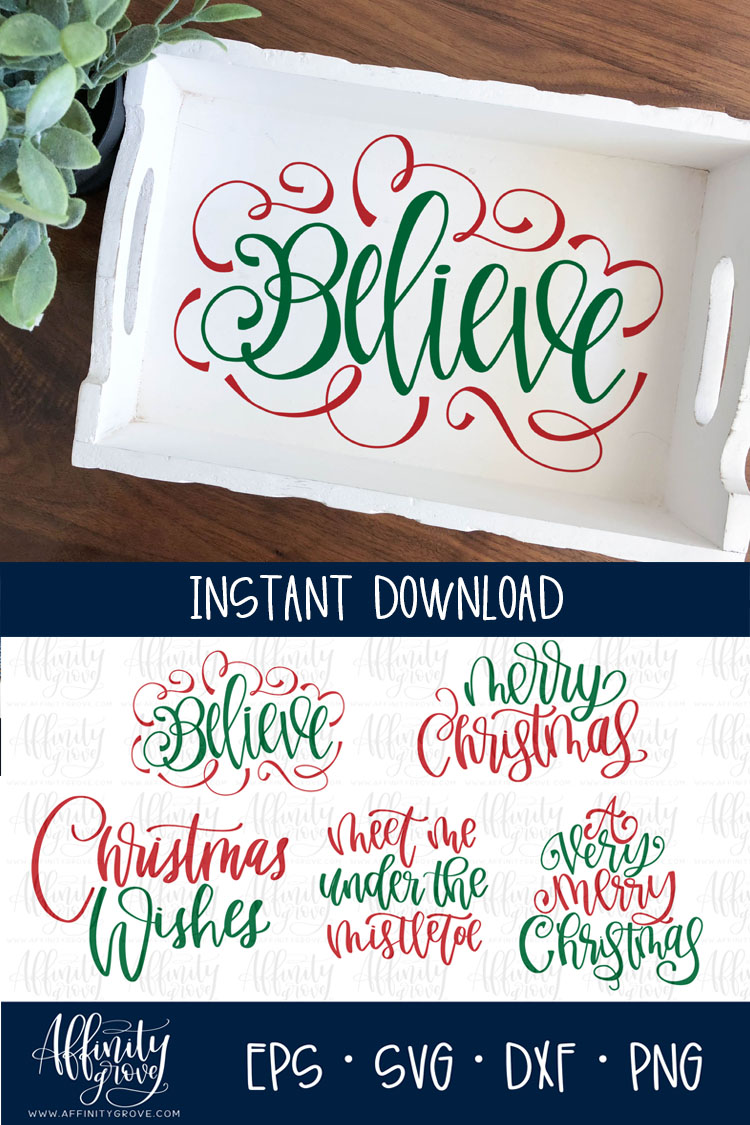 Hand lettered Christmas SVG Bundle! example image 4