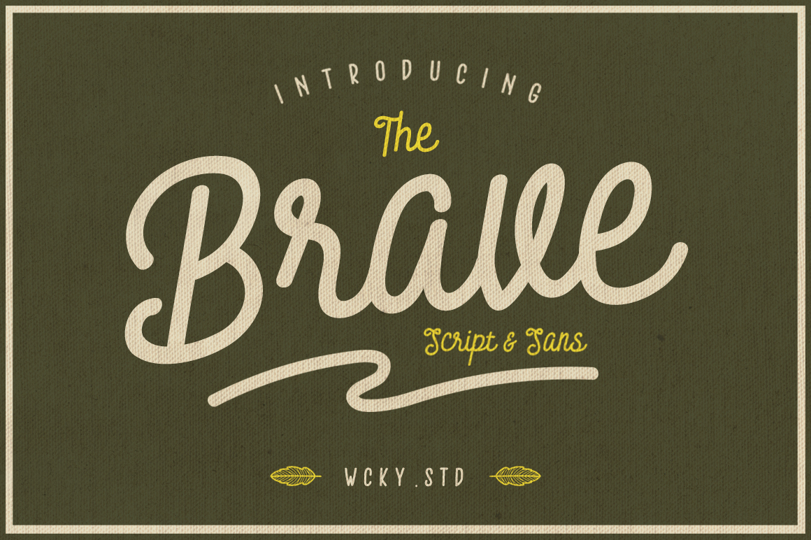 Brave Typeface example image 1