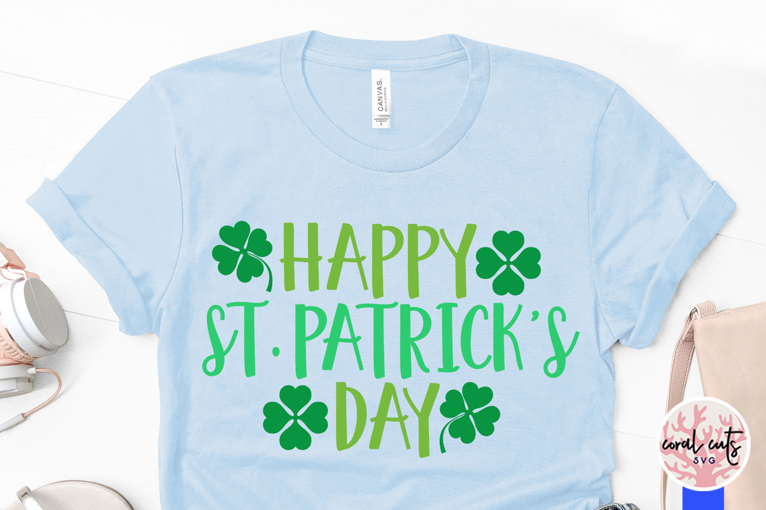 Happy st. patrick's day - St. Patrick's Day SVG EPS DXF PNG example image 3