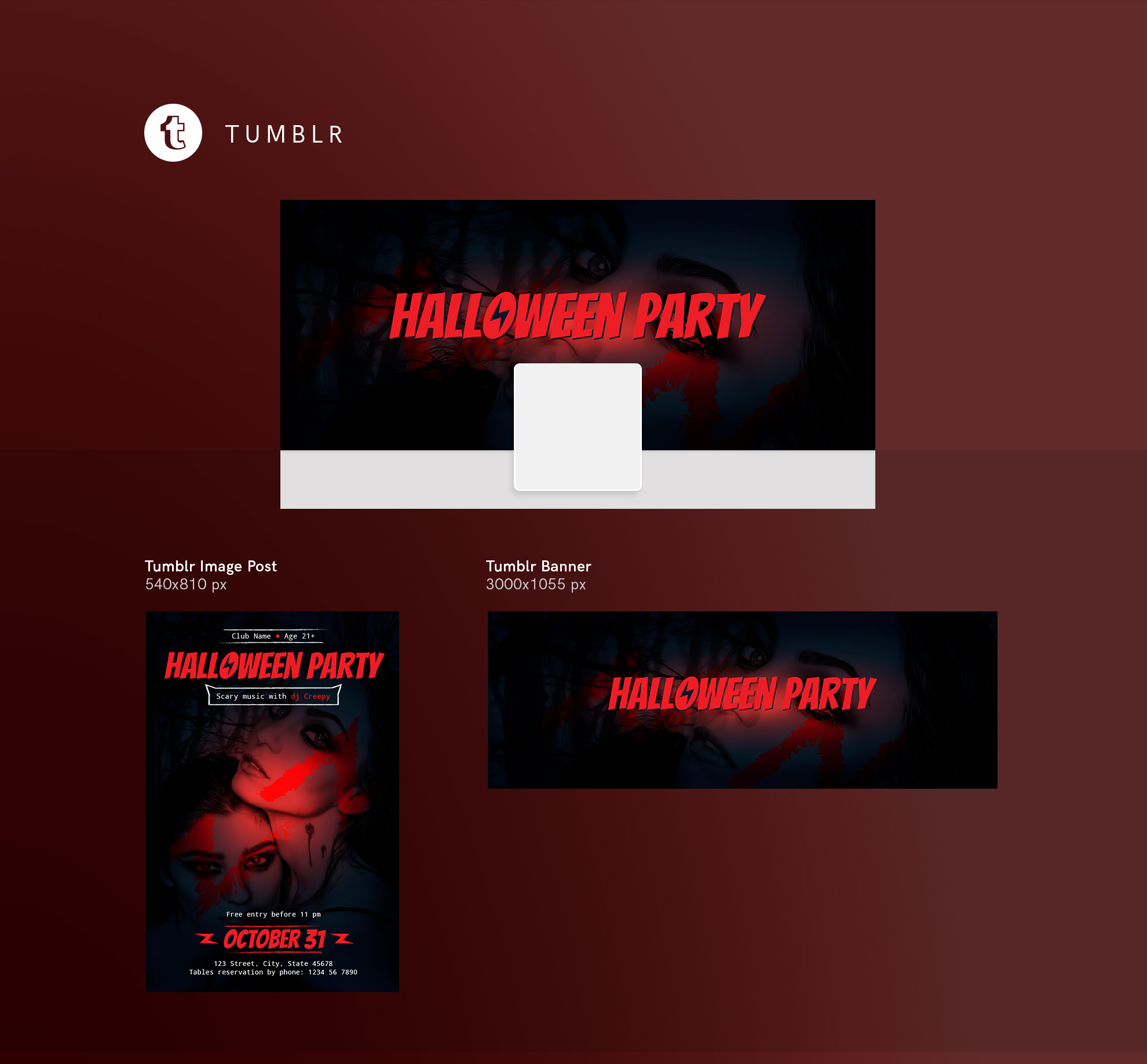 Halloween Party Design Templates Bundle example image 13
